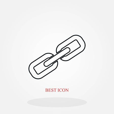 Chain link icon vector, flat design best vector icon