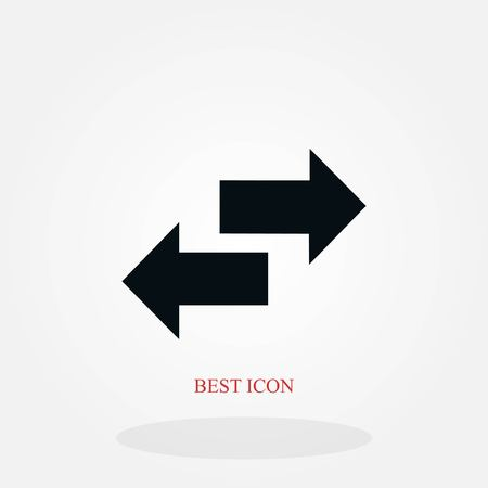 Recycling vector icon, flat design best vector icon