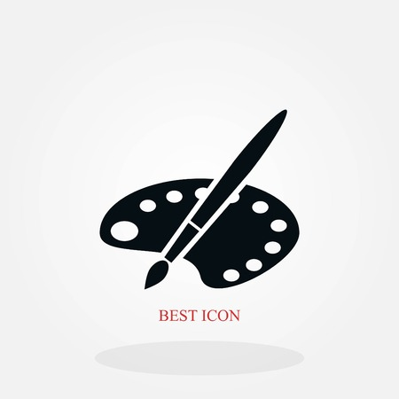 paint vector icon, flat design best vector icon 矢量图像