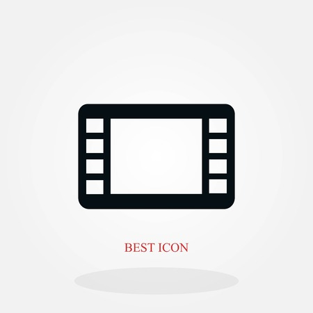 movie film strip vector icon, flat design best vector icon Stock Illustratie
