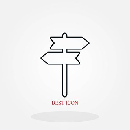 signpost vector icon, flat design best vector icon