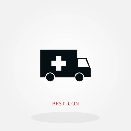 ambulance car icon, flat design best vector icon