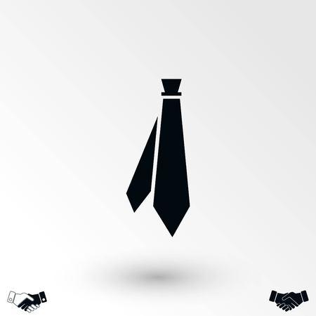 Tie icon vector, flat design best vector icon 写真素材 - 104041257