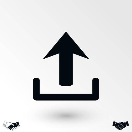 upload vector icon, flat design best vector icon