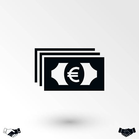 euro vector icon, flat design best vector icon