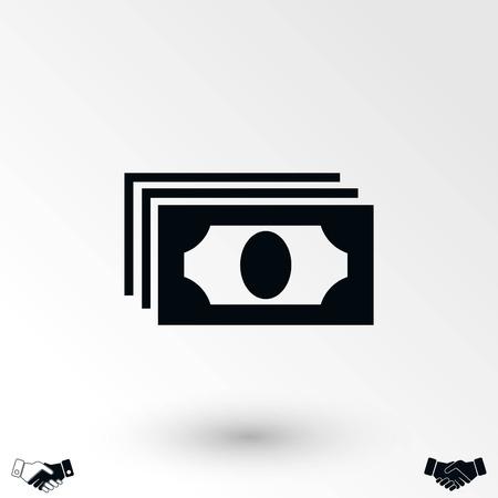 Dollars icon vector, flat design best vector icon