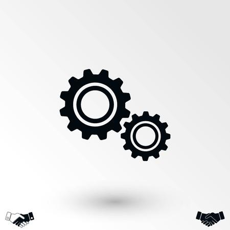 vector de icono de engranaje, diseño plano mejor icono de vector