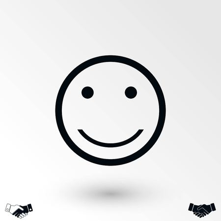 smiles icon vector, flat design best vector icon  イラスト・ベクター素材