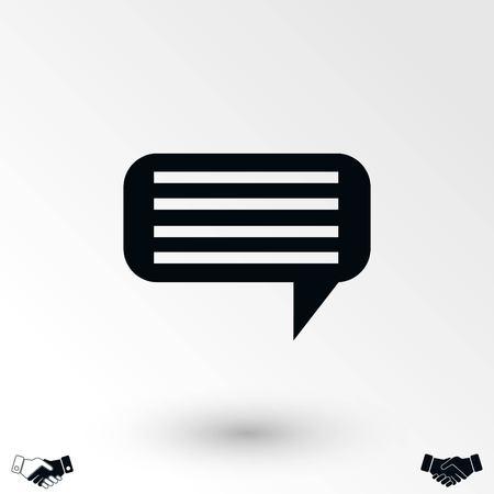 dialog icon vector, flat design best vector icon