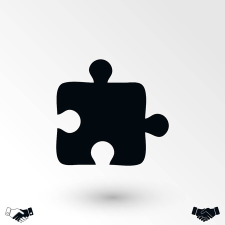 puzzle icon vector, flat design best vector icon