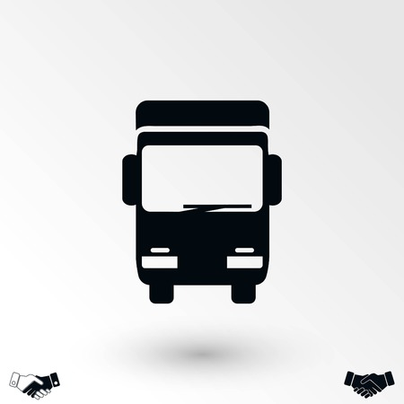 Truck sign icon, flat design best vector icon Illustration