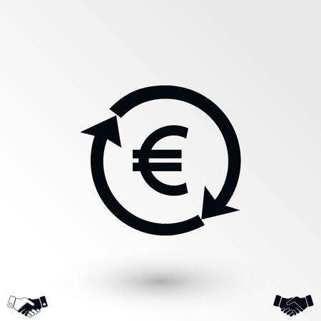 money convert icon, flat design best vector icon Reklamní fotografie - 104043568