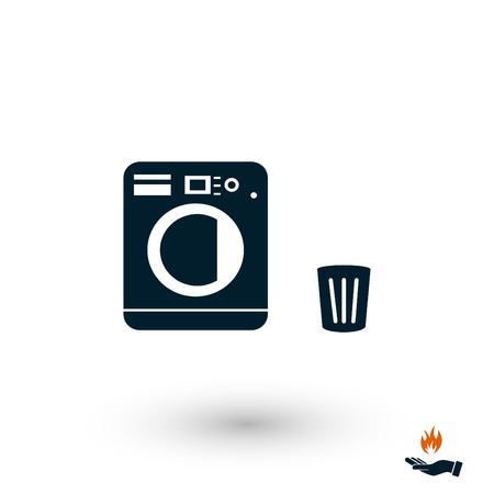 Laundry icons vector, flat design best vector icon