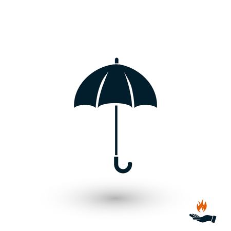 Umbrella icon vector, flat design best vector icon