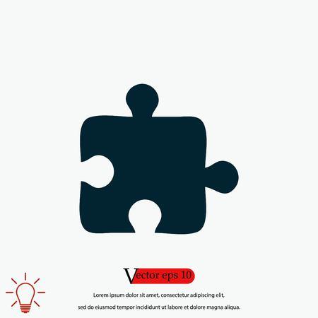 puzzle icon vector, flat design best vector icon Illustration