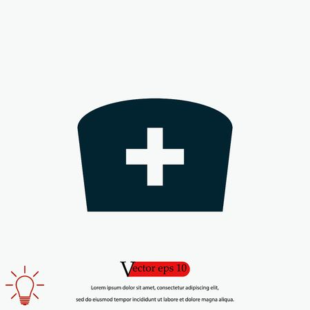 Flat Nurse icon, flat design best vector icon
