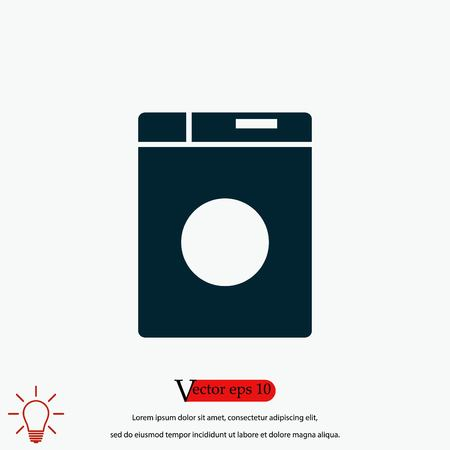 washing machine icon, flat design best vector icon