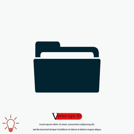 Folder icon vector, flat design best vector icon