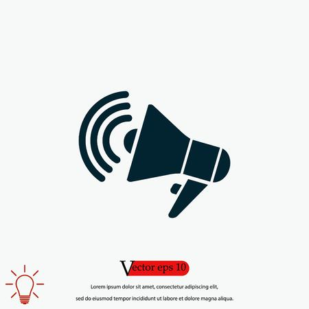 loudspeaker icon vector, flat design best vector icon 向量圖像