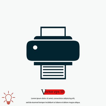 Printer icon vector, flat design best vector icon 向量圖像