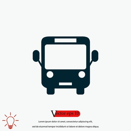 Bus icon vector, flat design best vector icon 向量圖像