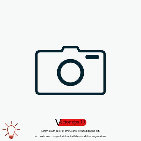 photo camera vector icon, flat design best vector icon 向量圖像