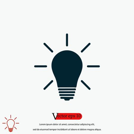 Light bulb icon, flat design best vector icon 向量圖像