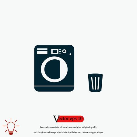 Laundry icons vector, flat design best vector icon Illustration