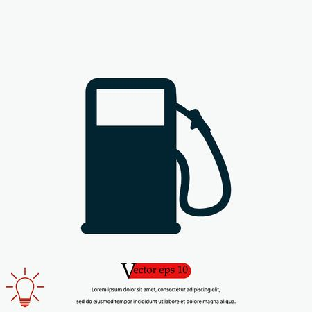 gas vector icon, flat design best vector icon