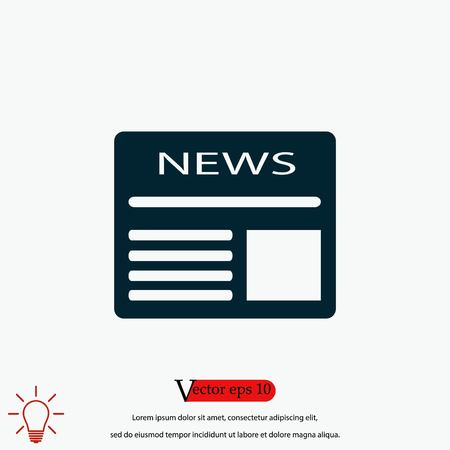 Flat icon of news, flat design best vector icon 向量圖像