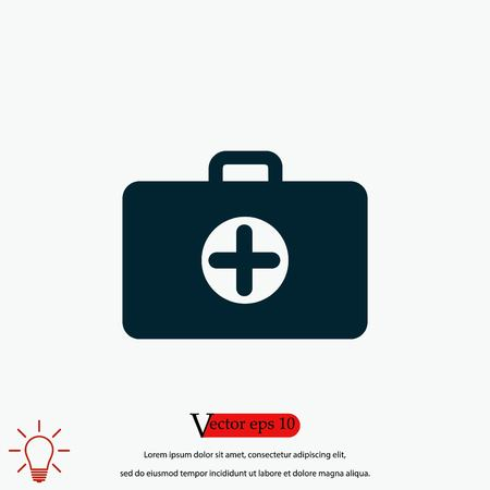 Nursing Bag icon, flat design best vector icon