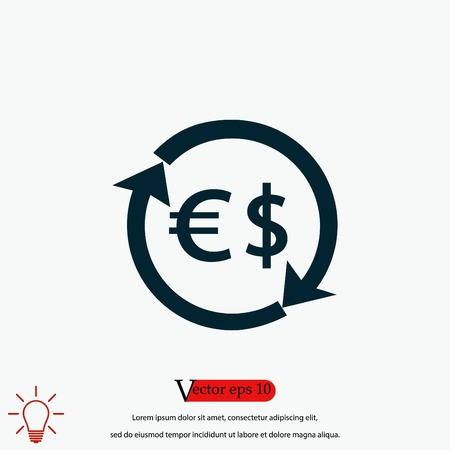 Money icon vector, flat design best vector icon 向量圖像