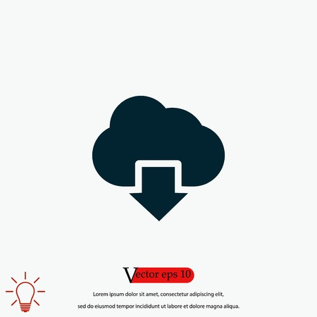 cloud sign icon, flat design best vector icon