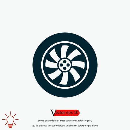 wheel vector icon, flat design best vector icon 向量圖像