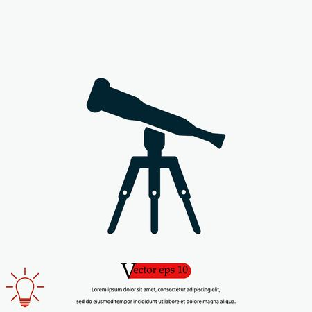 Telescope icon vector, flat design best vector icon