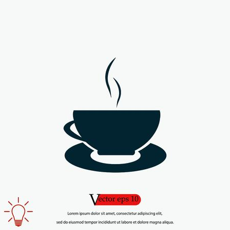 Caffee Icon vector, flat design best vector icon