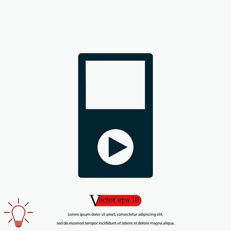 play icon vector, flat design best vector icon