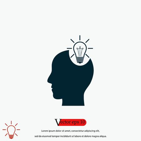 Pictograph of bulb concept icon, flat design best vector icon Stockfoto - 114912285