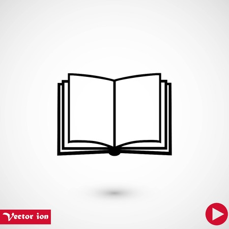 Book icon isolated on whitebackground, flat design best vector icon Illustration