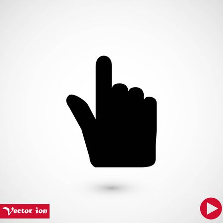 Hand cursor vector icon, flat design best vector icon Banque d'images - 111860543