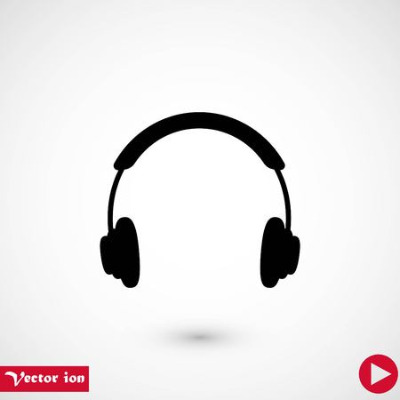 headphone icon vector, flat design best vector icon