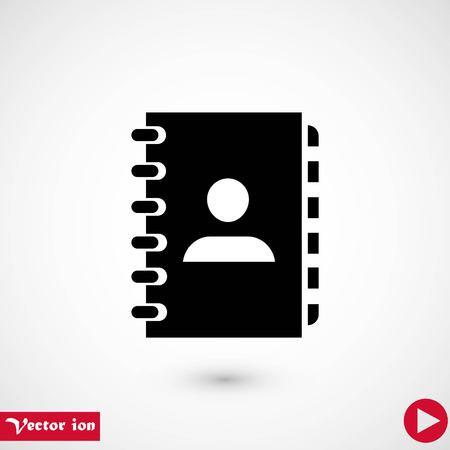 notebook vector icon, flat design best vector icon