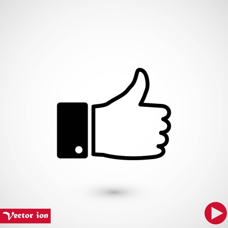 hand good vector, flat design best vector icon Banque d'images - 111860702