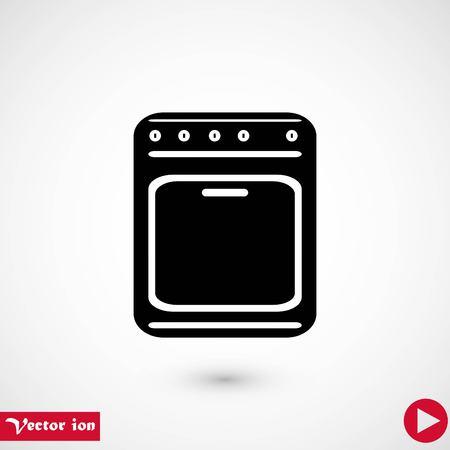 stove icon vector, flat design best vector icon Vettoriali