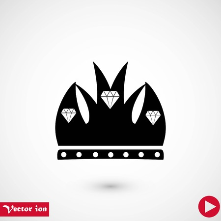 Crown vector icon, flat design best vector icon