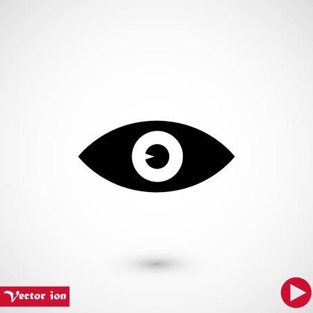 Eye icon vector, flat design best vector icon