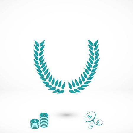 wheat vector icon, flat design best vector icon