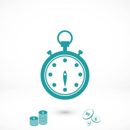 Stopwatch icon vector, flat design best vector icon Stock Illustratie