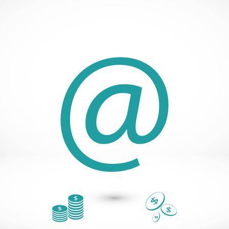 e-mail icon vector, flat design best vector icon