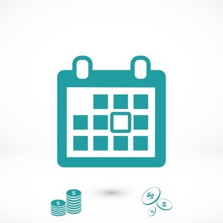 calendar vector icon, flat design best vector icon Illustration